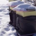 Зимовка пчёл на улице